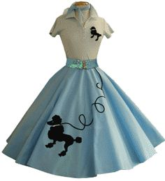 The Poodle Skirt of the 50's! I had one of these in pink that my grandmother made for my cousin, and was passed down to me. :) I wore it out!! ;) lol