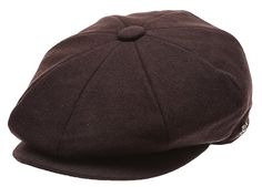 1920s Mens Hats – 8 Popular Styles Mens Classic 8 Panel Wool Blend Newsboy Snap Brim Collection Hat $23.99 AT vintagedancer.com