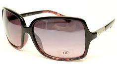 ($9.95) Dg Eyewear Fashion Vintage Retro Sunglasses Womens Black Red D843 From DG Eyewear