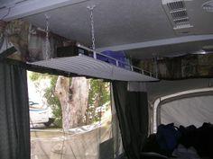 Hanging Shelf - another good shelving option for a pop up camper