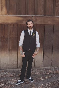 Pop Punk Outfit for Groom