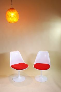 Matching Mid Century Saarinen Tulip Burke Chairs by RetrogradeLA, $365.00