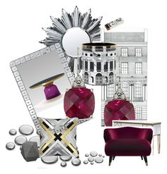 5 by zu-mussolini on Polyvore featuring polyvore, interior, interiors, interior design, home, home decor, interior decorating, Palecek, Baccarat, Ice and Fornasetti