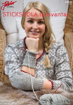 Stickskola: Tumvantar Ann Louise, Wrist Warmers, Crafts To Do, Knitting Patterns, Knit Crochet, Crochet Necklace, Winter Hats, Sewing, Knit Patterns