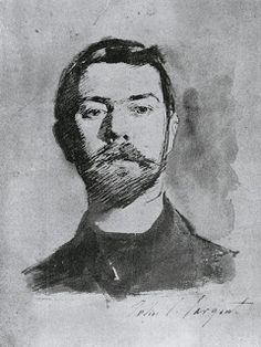 Inspirational Artworks: Sargent John Singer Self portrait Drawings