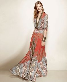 Maxi dress in boho bohemian gypsy style. For more follow www.pinterest.com/ninayay and stay positively #inspired