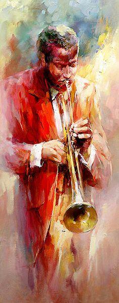 Retrat d'un músic en aquarel·la