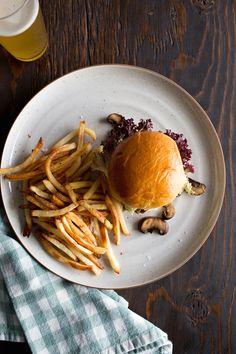 Mushroom Beef and Swiss Cheese Burgers