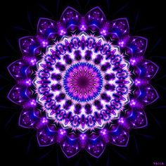 mandala by Marcelo Dalla. Yin Yang, Mandala Artwork, Mandala Painting, All Things Purple, Fine Art, Fractal Art, Fractal Images, Mandala Design, Op Art