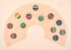 """#roydemaistre's """"#rainbow scale. D# Minor - F# Minor"""" circa #1930s @artgalleryofnsw. The #Australian #artists #rolandwakelin and Roy de Maistre experimented with color theory and abstraction in #sydney as early as #1918. Inspired by the #postimptessionists whose work he had seen in reproduction and by #colourtherapy used to treat #shellshocked #soldiers after the #war de Maistre developed a #theory of """"colour harmonisation based on analogies between colours of the spectrum and notes of the…"""
