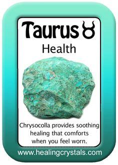TAURUS HEALTH CARD: CHRYSOCOLLA