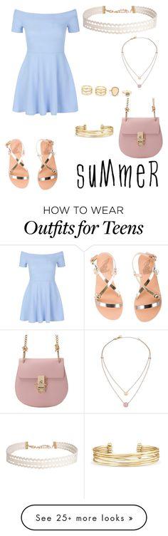 """""""Sin título #160"""" by dailygreenwater on Polyvore featuring Ancient Greek Sandals, New Look, Stella & Dot, LULUS, Humble Chic, Michael Kors and summerhat"""