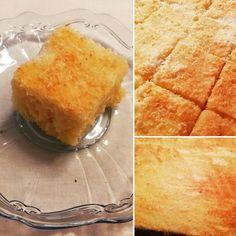 saftig, fluffiger Kuchen/Blechkuchen der ganz flott gemacht ist.