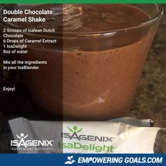 Magnificent Isagenix Drinks to tempt your taste buds! Isagenix recipes, Isagenix shakes, Isagenix isalean shake, Dutch Chocolate, Isadelight sea salt and caramel