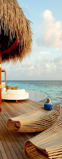 W Retreat & Spa in the Maldives, Indian Ocean  cannot get over those lounge chairs....luv