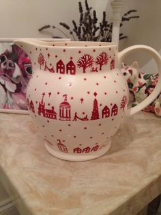 Emma Bridgewater Christmas Town Personalised 6 Pint Jug 2013