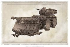Norse APC concept art from Iron Grip video game, by Leviathan artist Keith Thompson.