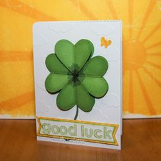 maikreations - Good Luck card Showing you how to use a heart punch to create this 3D-clover.