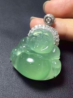 Collectible Natural Green Ice Jadeite Jade Handwork Chinese Rare Leaf Pendant Pure And Mild Flavor Chinese