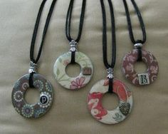 A few weeks ago I saw a post on Haley Dyer's blog that included an instructional tutorial on how to create some really fun necklaces using...
