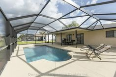 Southwest Florida lakefront home about 15 minutes to the nearest beach. Perfect summer vacation retreat or reunion with the whole family. Vacation Rentals By Owner, House Rentals, Port Charlotte, Lakefront Homes, Heated Pool, Pool Houses, Ideal Home, Condo, Florida