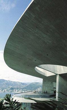 Arango Residence (Casa Marbrisa) Acapulco,1973, John Lautner. In situ concrete. Curves.