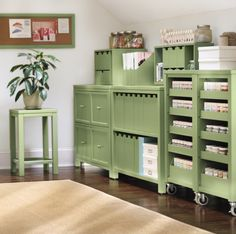 Find a place for everything to make crafting easier. HomeDecorators.com