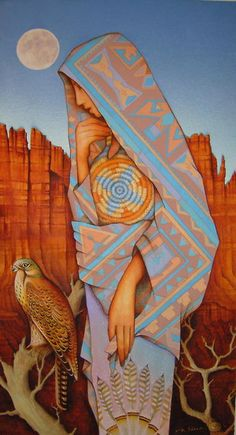 The Guardian - Ancient Goddess, protector of all creatures in the canyon - Holly Sierra Art Ancient Goddesses, Gods And Goddesses, Native Art, Native American Art, Art And Illustration, Southwestern Art, Medicine Wheel, Magic Realism, Inspiration Art