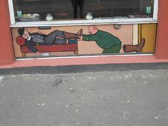 Cafe wallpainting