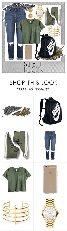 """""""Style Icon Back to School"""" by mangofruit44 ❤ liked on Polyvore featuring Polaroid, Paperself, NIKE, Keds, Agent 18, BauXo, Movado, Miriam Haskell, BackToSchool and nike"""