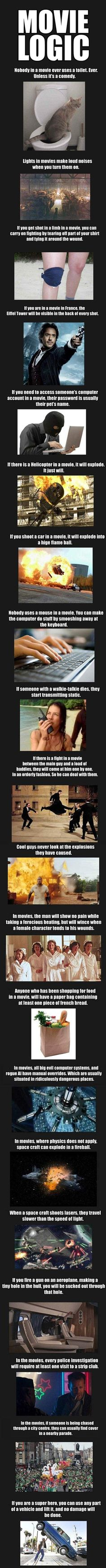 Movie logic, pretty accurate