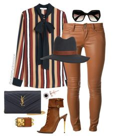 what to wear with striped mango top leather pants