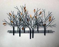 autumn tree scene metal wall art - Metal Art Decor