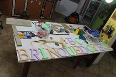 Letrinhas para um espaço muito especial. Brinquedoteca para as crianças da Serti de Forianópolis. #colaboraçõa #doação  #carinho
