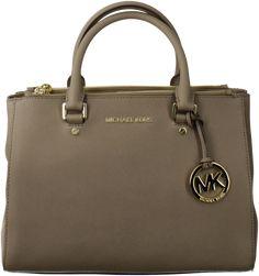 Taupe Michael Kors Handbag http://www.omoda.nl/dames/tassen/handtassen/michael-kors/taupe-michael-kors-handtas-jet-set-md-dressy-tote-50969.html