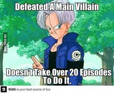 Good guy Trunks. . . Unless you consider that he spent two sagas getting strong enough to finish that battle.. #DBZ