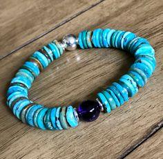 Women's Bracelets, Gemstone Bracelets, Sterling Silver Bracelets, Amethyst Bracelet, Amethyst Gemstone, Turquoise Bracelet, Southwestern Jewelry, Birthstone Jewelry, Healing Stones