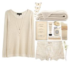 """""""Cozy Pastel"""" by poppyy-92 ❤ liked on Polyvore featuring ...Lost, rag & bone, philosophy, Laura Mercier, BRONTE, Minor Obsessions, OKA, The Body Shop, Rose & Co. and women's clothing"""