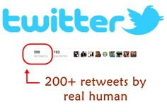 I will give you 200+ real human Twitter retweets for better SEO just for $5, on fiverr.com