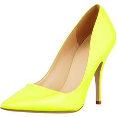 kate spade new york licorice patent pointed-toe pump, yellow ($298) ❤ liked on Polyvore