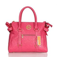 Michael Kors Logo Signature Large Pink Totes Are High Quality And Cheap Price!