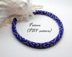 Bead crochet necklace pattern bead crochet rope pattern seed