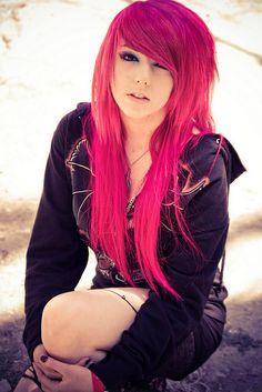 long, pretty, pink