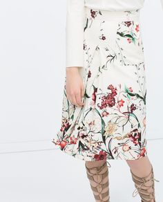ZARA - WOMAN - FRONT PLEAT PRINTED SKIRT