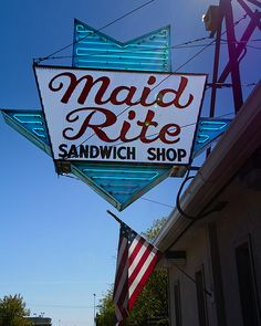 MAID RITE Sandwich Shop - is one of the first fast food franchises in the United States, starting in Muscatine, IA in 1926. I am fortunate to live in the Midwest, were these sandwich shops are located. I ate here in Muscatine, Ia last yr (2012) with a Cousin I hadn't seen in 45 yrs. So worth the trip!!