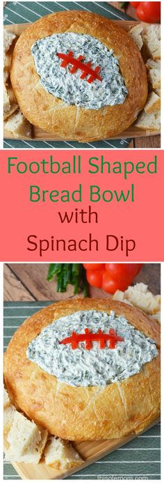 If you're planning a Super Bowl party, you might want to serve this fun and delicious Football Shaped Bread Bowl With Spinach Dip. The bread bowl with spinach dip will make the perfect appetizer for all those hungry football fans! What team are you cheering to win the Super Bowl? Honestly, I don't care who wins the…
