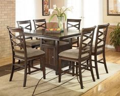 Hayley Contemporary Dark Brown Counter Height Dining Table -- To view further for this item, visit the image link.Note:It is affiliate link to Amazon.