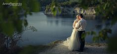 Evening bridal shoot by the lake by www.annarenarda.com Please share and comment if you like it