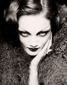 The Macabre And the Beautifully Grotesque  Sofia Monaco as Marlene Dietrich  photo by Ivan Aguirre