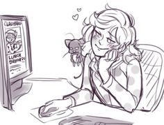 I didn't realize they were genderbent, so I thought Marionette liked to look at her hero pics !>>oh that would be funny Easy Cartoon Drawings, Cartoon Drawing Tutorial, Meraculous Ladybug, Ladybug Comics, Lady Bug, Ladybugs Movie, Catty Noir, Miraculous Ladybug Fan Art, Daddy